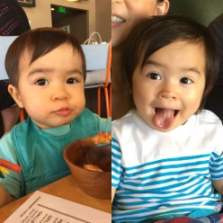 Left: new Luca! Right: old Luca with baby hair <3